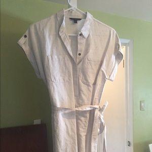 Banana Republic belted linen dress